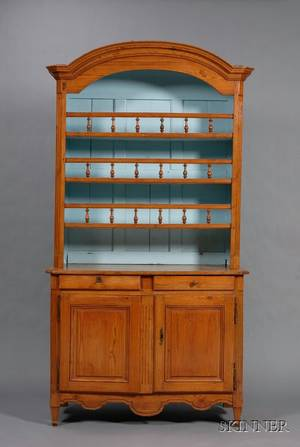 French Provincial Pine Buffet a Deux Corps