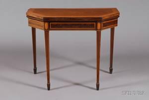 Regency Inlaid Mahogany Game Table