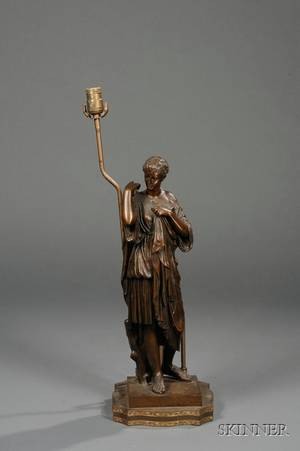 Bronze Grand Tour Figure of a Classical Maiden