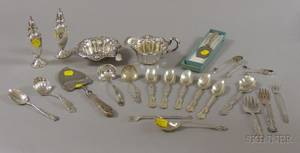 Group of Sterling Silver Flatware and Serving Pieces
