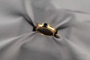 18kt Gold and Sapphire Ring Tiffany  Co