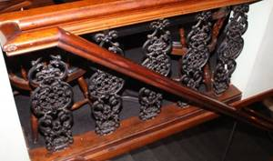 60 Lineal Feet of Mahogany Railings with Iron Pickets