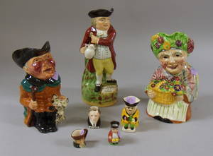 Five Collectible Ceramic Toby Jugs and Two Character Jugs