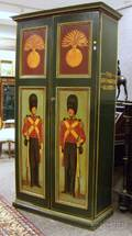 The Grenadier Guards Polychrome Paint Decorated Wooden TwoDoor Storage Cabinet