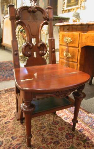Victorian Mahogany Metamorphic Library Chair