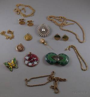 Small Group of Assorted Estate and Costume Jewelry