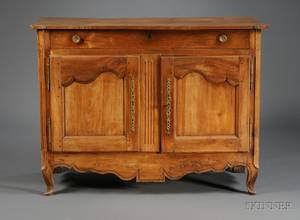 French Provincial Fruitwood TwoDoor Side Cabinet