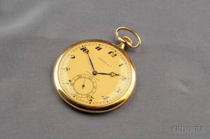 18kt Gold Open Face Pocket Watch Tiffany  Co