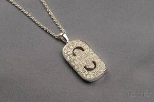 18kt White Gold and Diamond Parentesi Pendant Necklace Bulgari