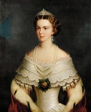 British School 19th Century Portrait of Elisabeth of Bavaria
