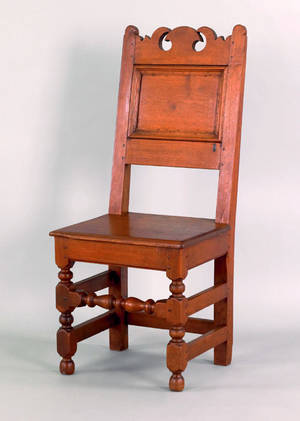 Chester County Pennsylvania William  Mary walnut wainscot side chair ca 1740