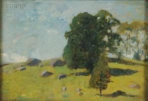 Emil Carlsen American 18481932 Spring Landscape