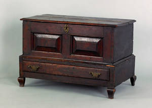 Miniature Georgian oak blanket chest early 18th c