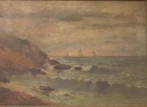 Framed Oil on Canvas Seascape