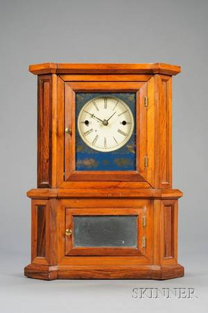 Rosewood Parlor No 1 30Day Lever Spring Shelf Clock by Atkins Whiting  Company