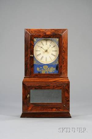 Rosewood Parlor No 2 Variant Shelf Clock probably by Atkins Whiting  Company