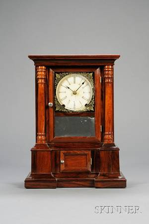 Rosewood London 30Day Fusee Shelf Clock by Atkins Clock Company