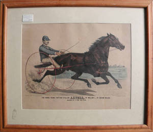 Two Currier  Ives lithographs titled Trotting Stallion Palo Alto and Astell