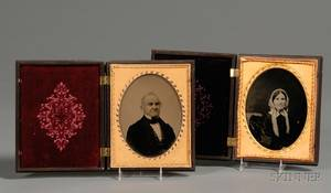 Two Ambrotype Portraits of a Lady and Gentleman