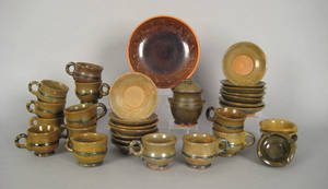 Grouping of Stahl redware tableware
