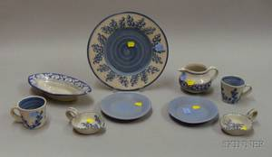 Nine Pieces of Art Pottery