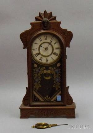 Walnut Parlor Clock by the New Haven Clock Company