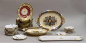 Four Partial Sets of Continental and English Ceramic Tableware