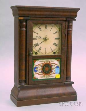 New Haven Rosewood Veneer Shelf Clock