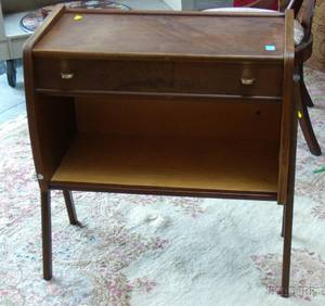 Small Danish Modern Wood Side Cabinet