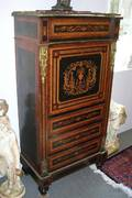Napoleon III Ormolumounted and Fruitwood Marquetryinlaid and Partebonized Secretaire a Abattant