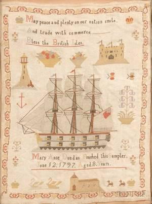 George III Crossstitch Sampler