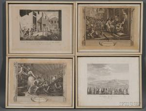 Lot of Twentythree Etchings Depicting Events of the French Revolution Various artists including works by