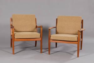 Two Danish Modern Lounge Chairs
