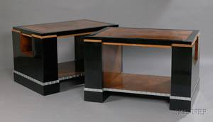 Pair of Art Deco Center Tables Attributed to Jean Michel Frank