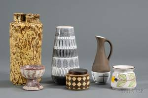 Six Pieces of Modern Pottery