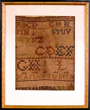 Two silk on linen samplers dated 1789 and 1802