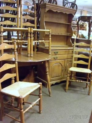 Sixpiece TempleStuart Colonial Revival Maple Dining Set