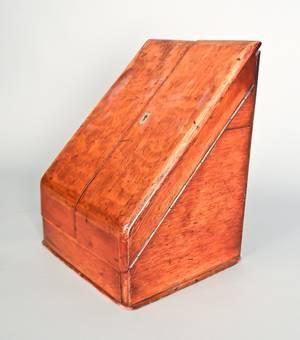 English oak letter holder