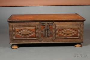 Continental Chipcarved Mahogany Blanket Chest