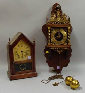 Seth Thomas Steeple Clock and a Dutchstyle Wall Clock