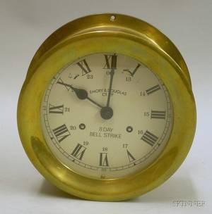 Brass Ship Clock by Emory  Douglas Co Ltd