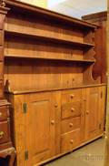 Large Country Pine Twopart Stepback Hutch