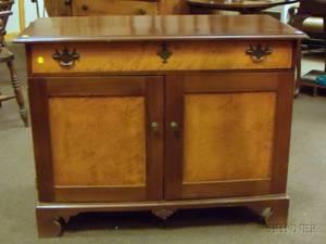 G MacIntosh Restorations Cherry and Birdseye Maple Side Cabinet