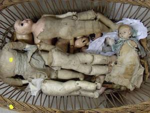Large Lot of Dolls and Doll Parts