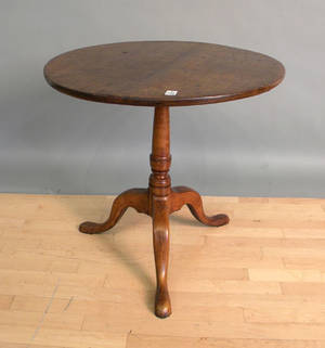 Georgian fruitwood tea table