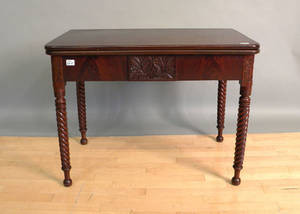 Sheraton mahogany flip top table