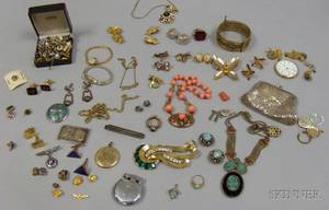Group of Assorted Mens and Ladys Costume and Estate Jewelry