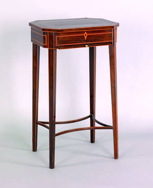 Regency mahogany and rosewood sewing stand early 19th c