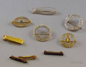 Five Lacework and Five Other Pins
