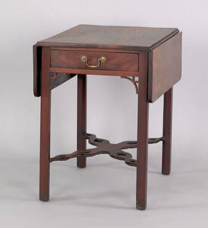 Philadelphia or Baltimore Chippendale mahogany Pembroke table ca 1775